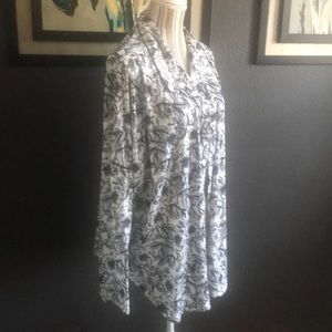 LuLaRoe button down top, 3/4 or long sleeve